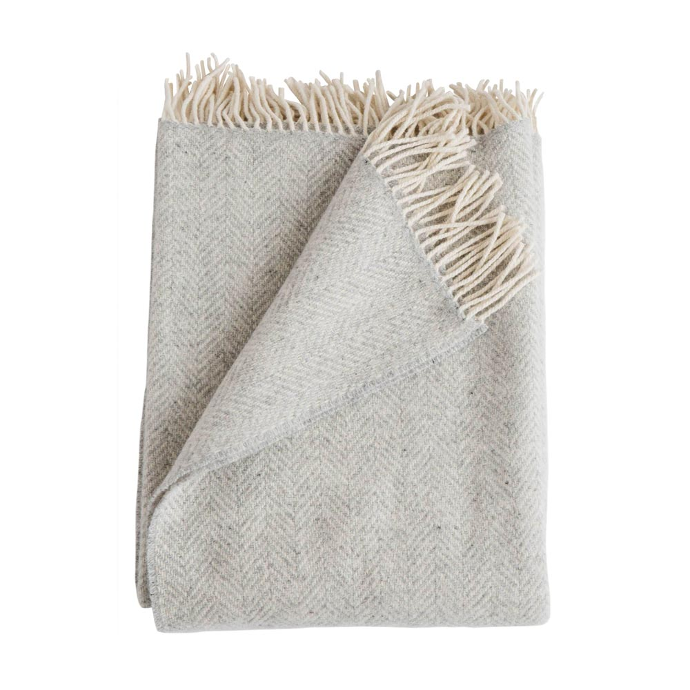 Fog Merino/Cashmere Herringbone Throw