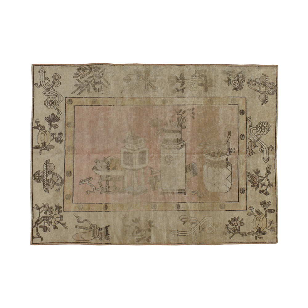 Antique Samarkand Pictorial Rug // CLOTH & KIND