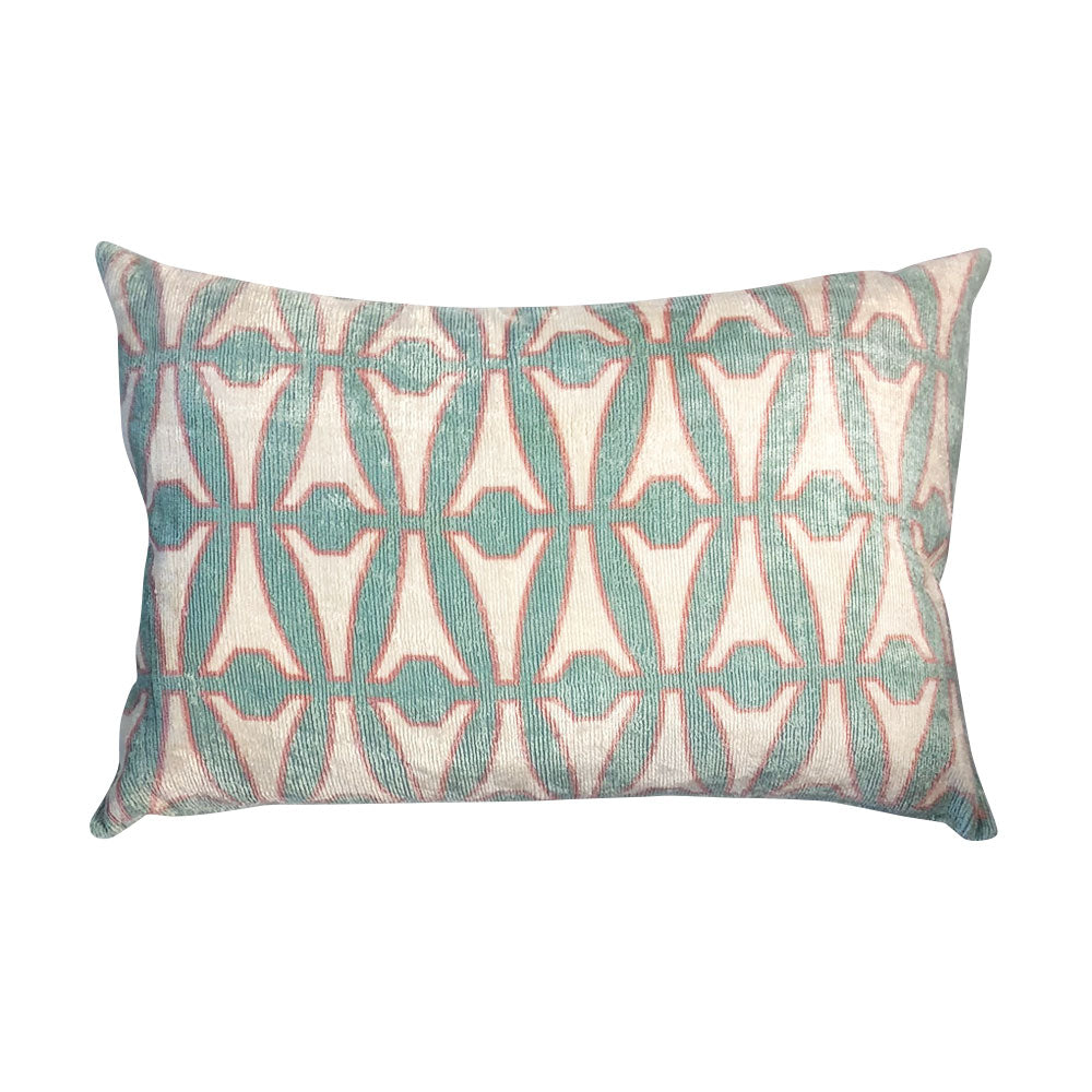 Eiffel Silk Lumbar Pillow