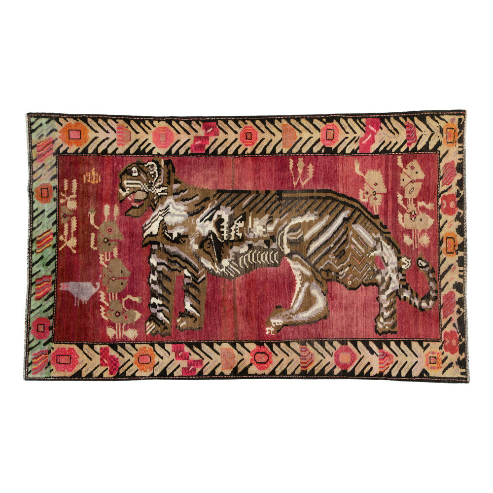 Antique Karabagh Pictorial Rug