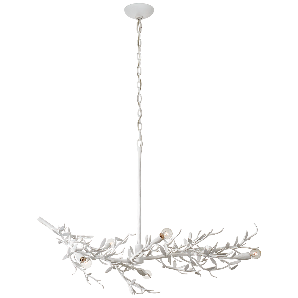 Mandeville Linear Chandelier in Plaster White