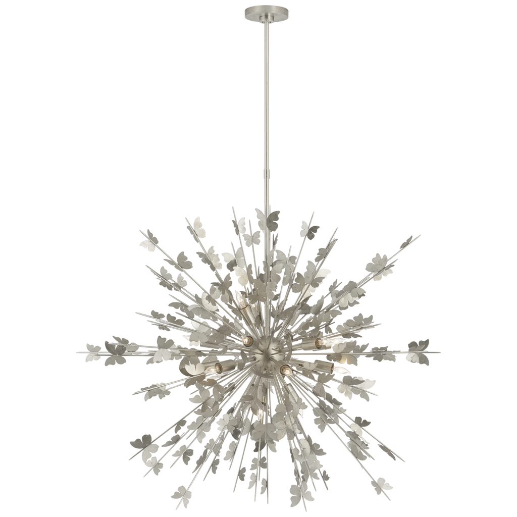Farfalle Large Chandelier in Burnished Silver Leaf