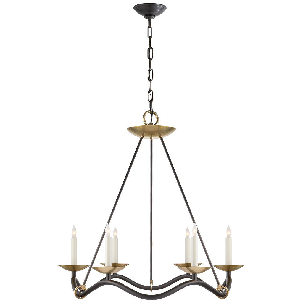 Choros Chandelier - Aged Iron with Hand-Rubbed Antique Brass // CLOTH & KIND