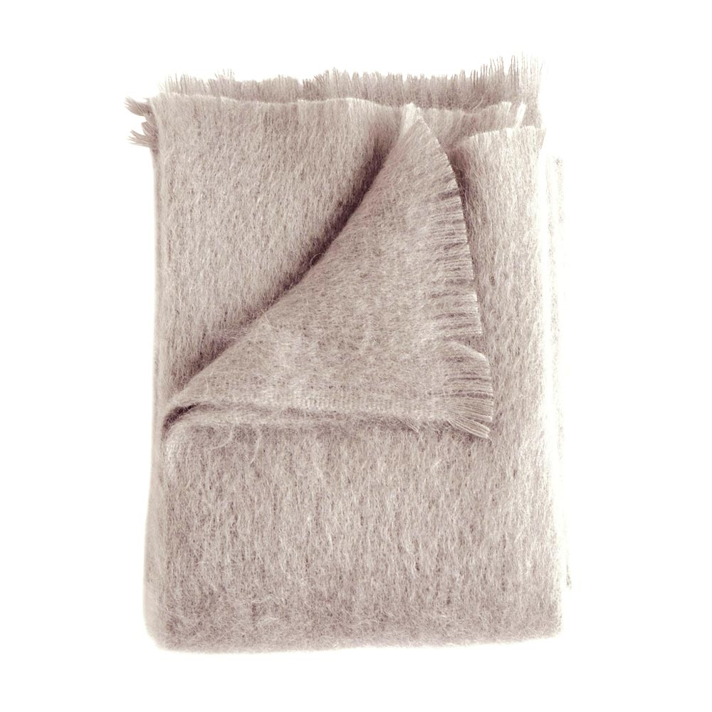 Rosé Mohair Throw