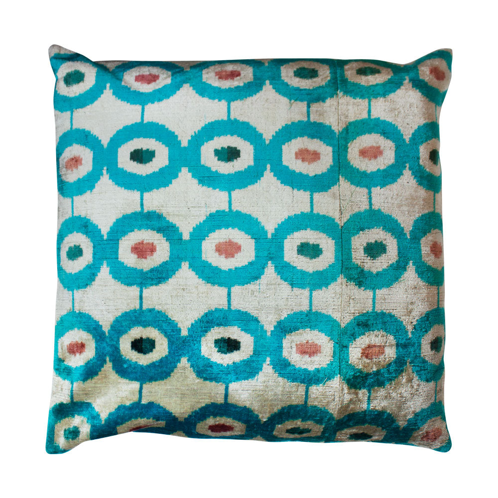 Blue Dot Silk Pillow // CLOTH & KIND