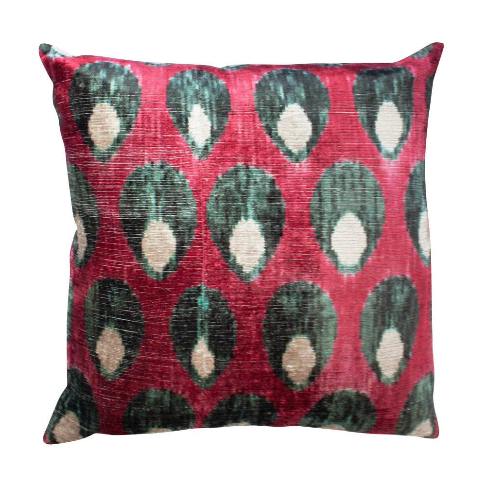 Blue Eyed Ikat Silk Pillow // CLOTH & KIND