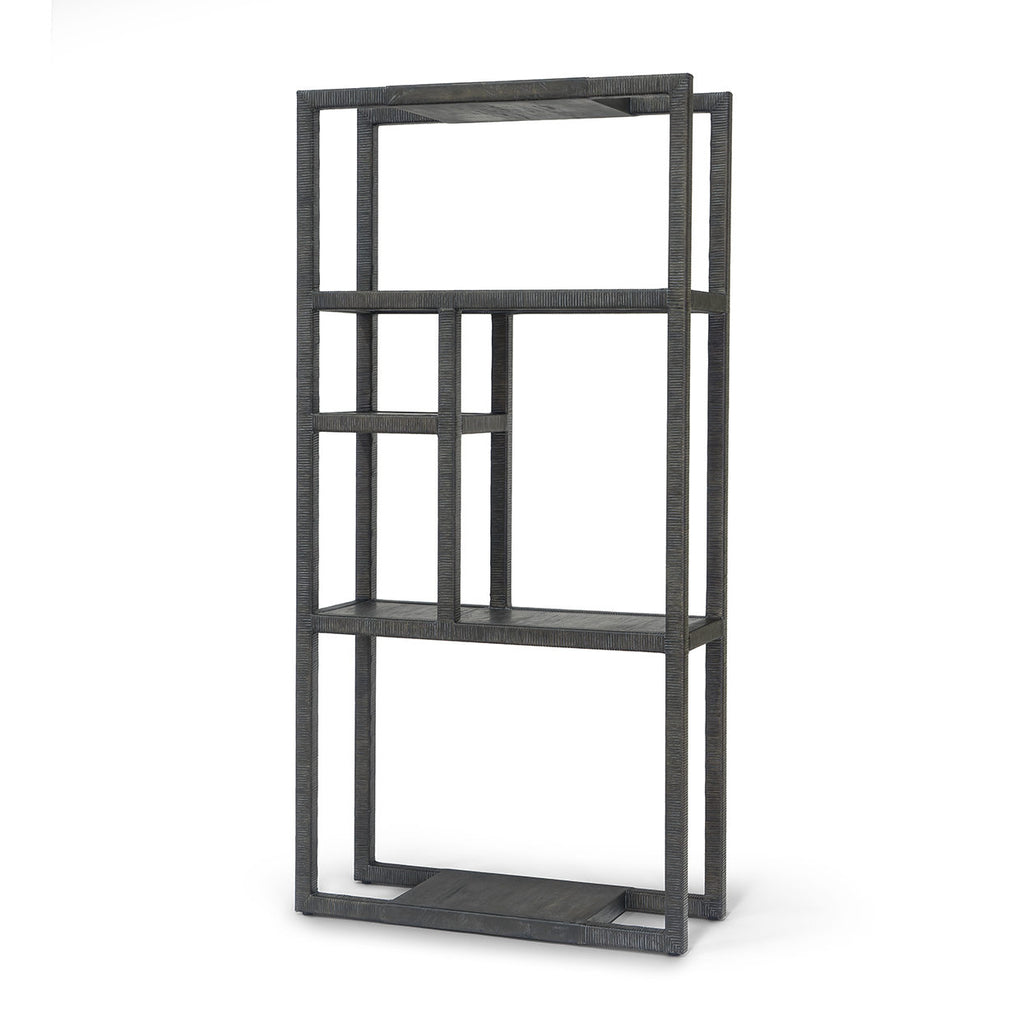 Rattan Wrapped Etagere