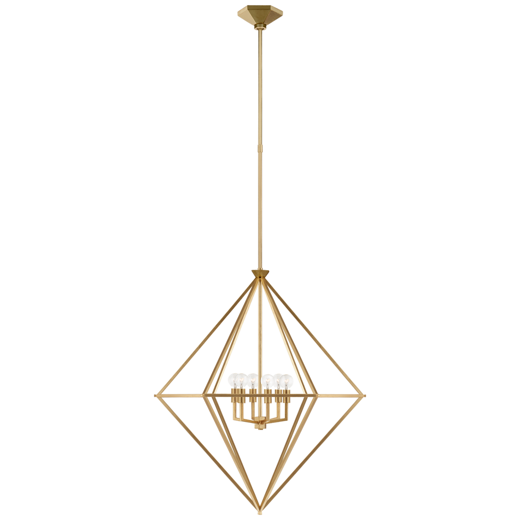 Afton Medium Elongated Lantern in Gild