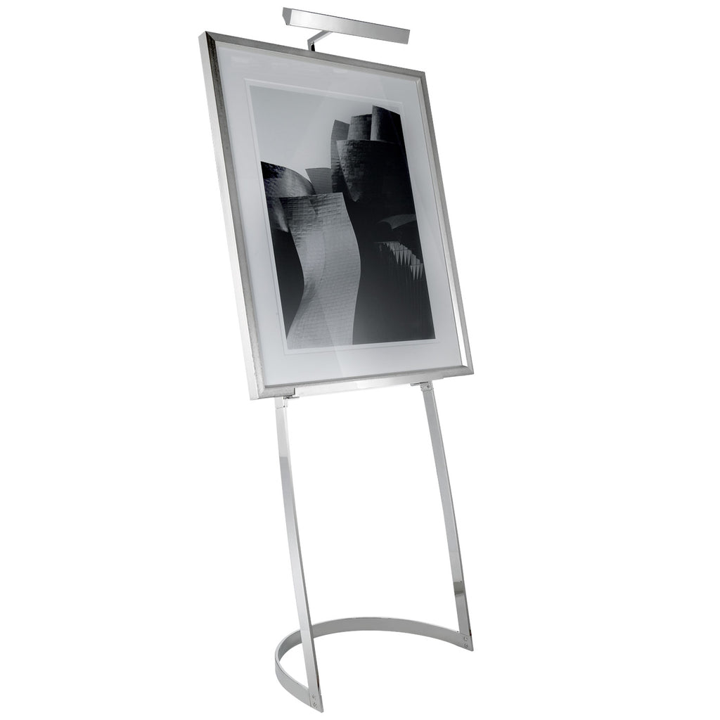 Colin Easel Floor Lamp in Polished Nickel