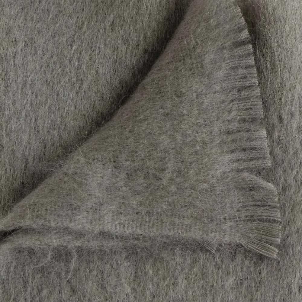 Rain Cloud Mohair Throw