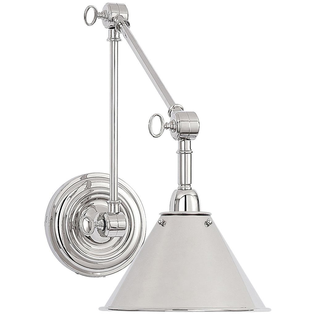 Anette Library Light in Polished Nickel