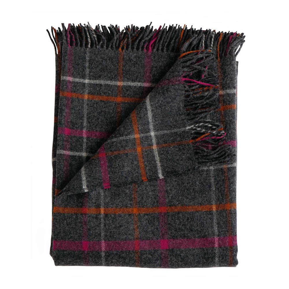 Ledge Plaid Merino Lambswool Throw