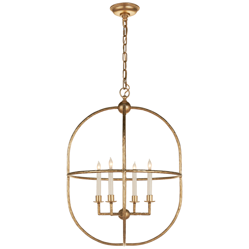 Desmond Open Oval Lantern in Gild