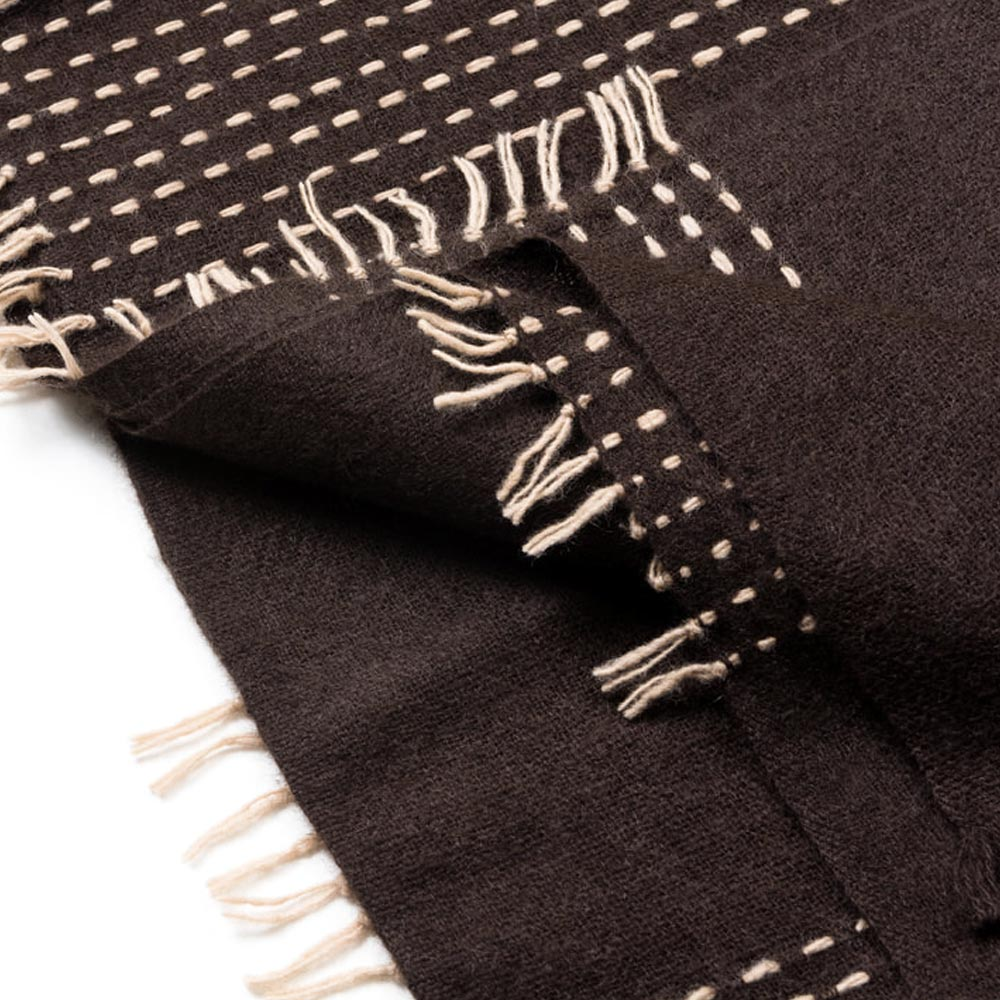 Chocolate Handspun Yak and Merino Wool Throw // CLOTH & KIND