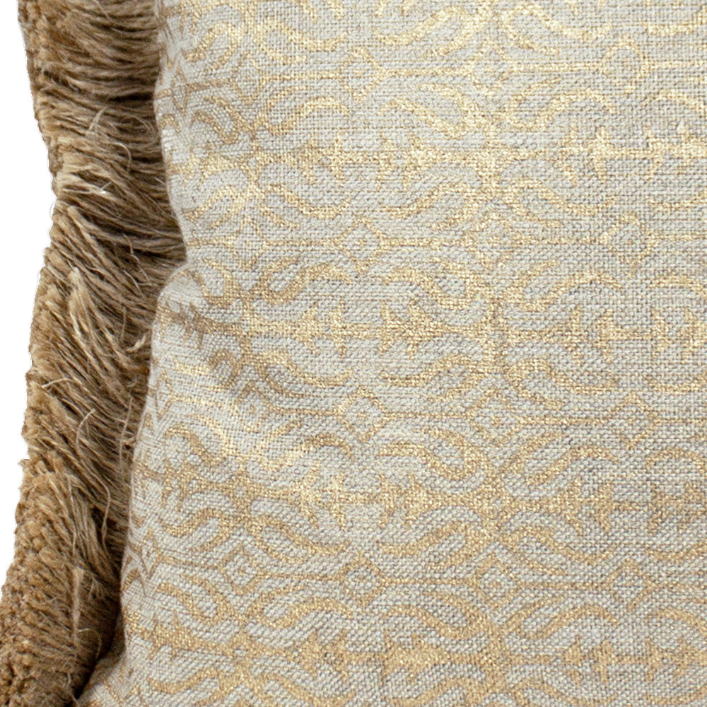 Glitter Bandra Pillow with Jute Fringe