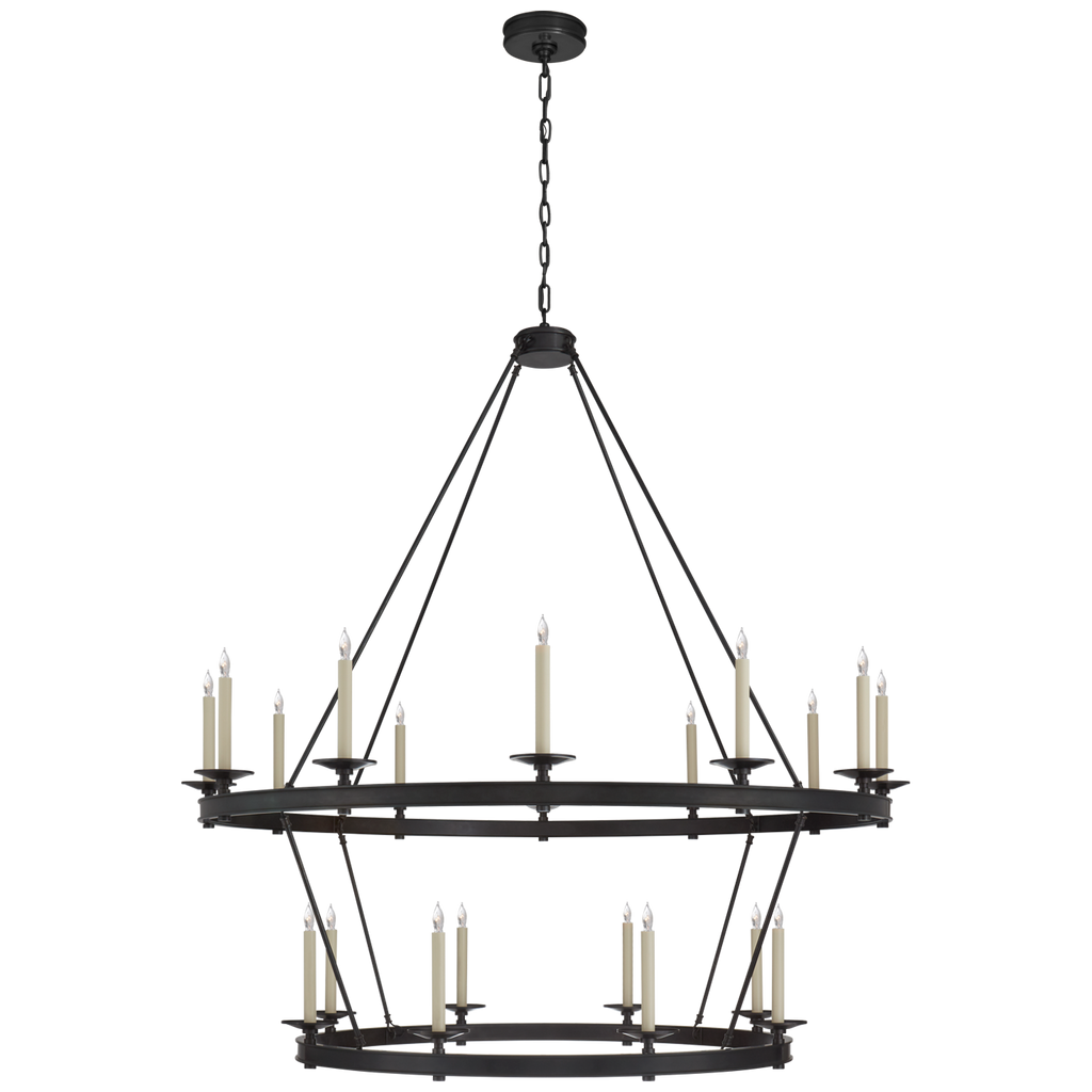 Launceton Grande Two Tiered Chandelier in Bronze
