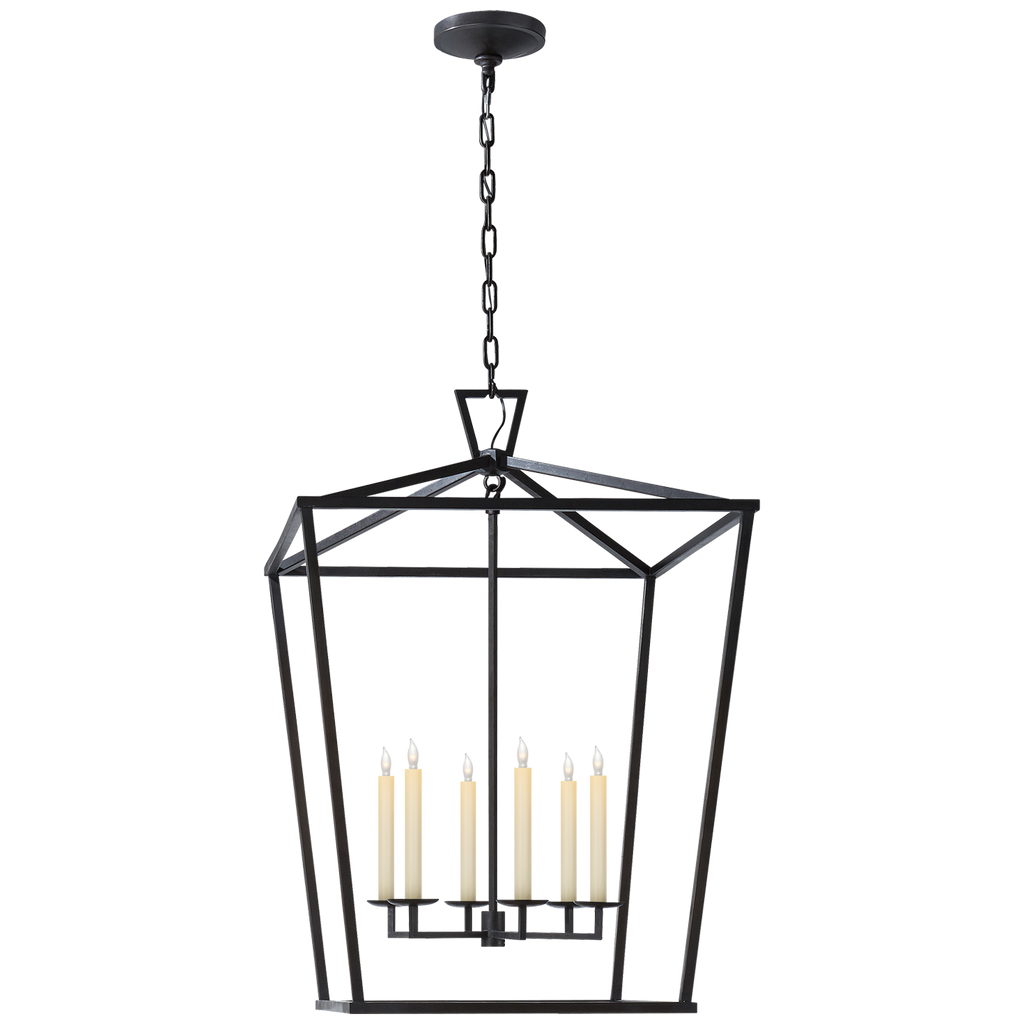 Darlana Extra Large Lantern in Aged Iron