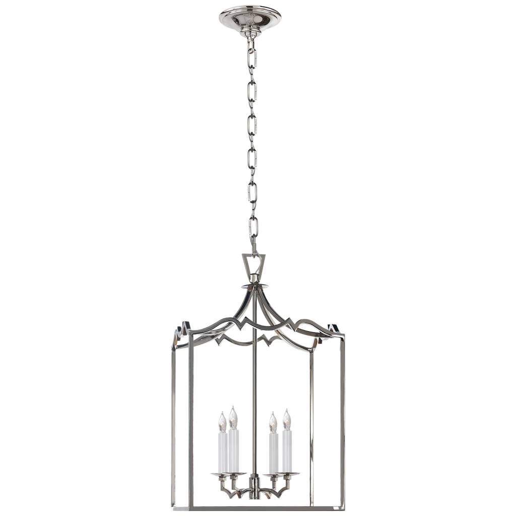 Darlana Small Fancy Lantern in Polished Nickel