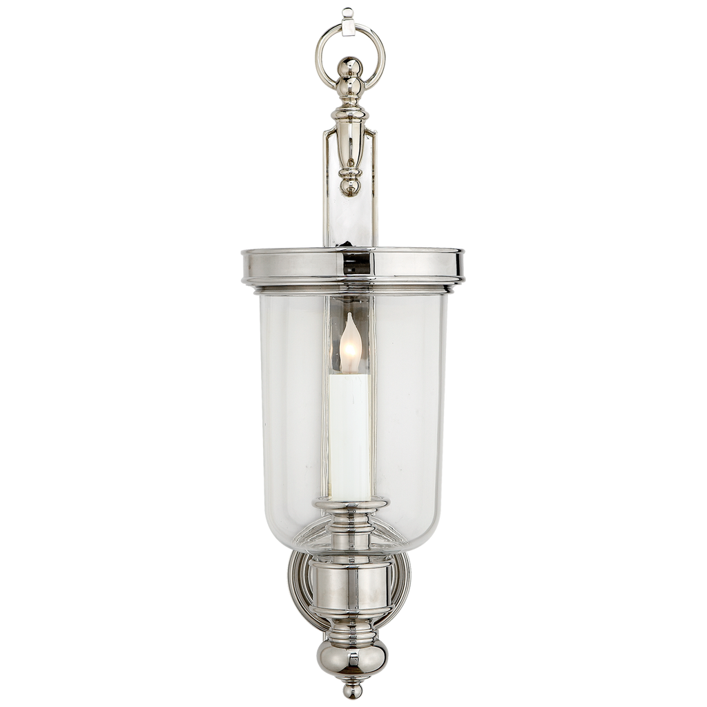 Georgian Small Hurricane Wall Sconce in Polished Nickel