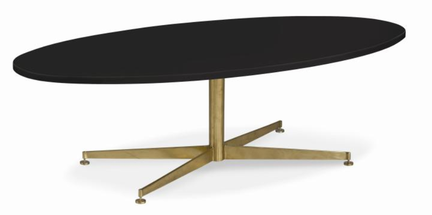 Montauk Coffee Table with Jet Black Top