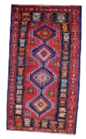 Multicolored Diamond Shirvan Rug