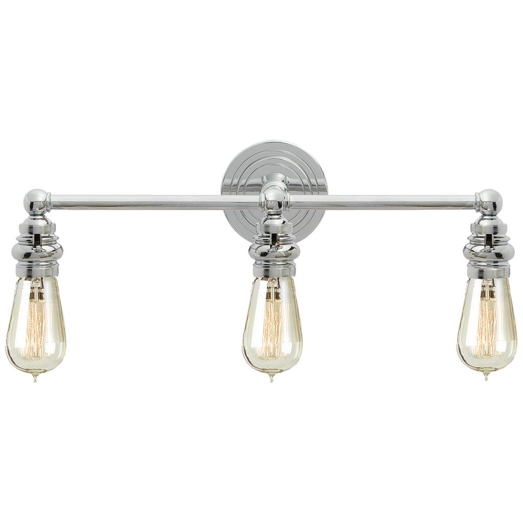 Boston Functional Triple Light in Polished Nickel