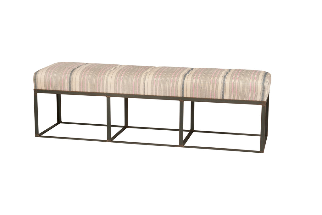 "72"" Cruz Bench in Marvel Chestnut Leather // CLOTH & KIND"
