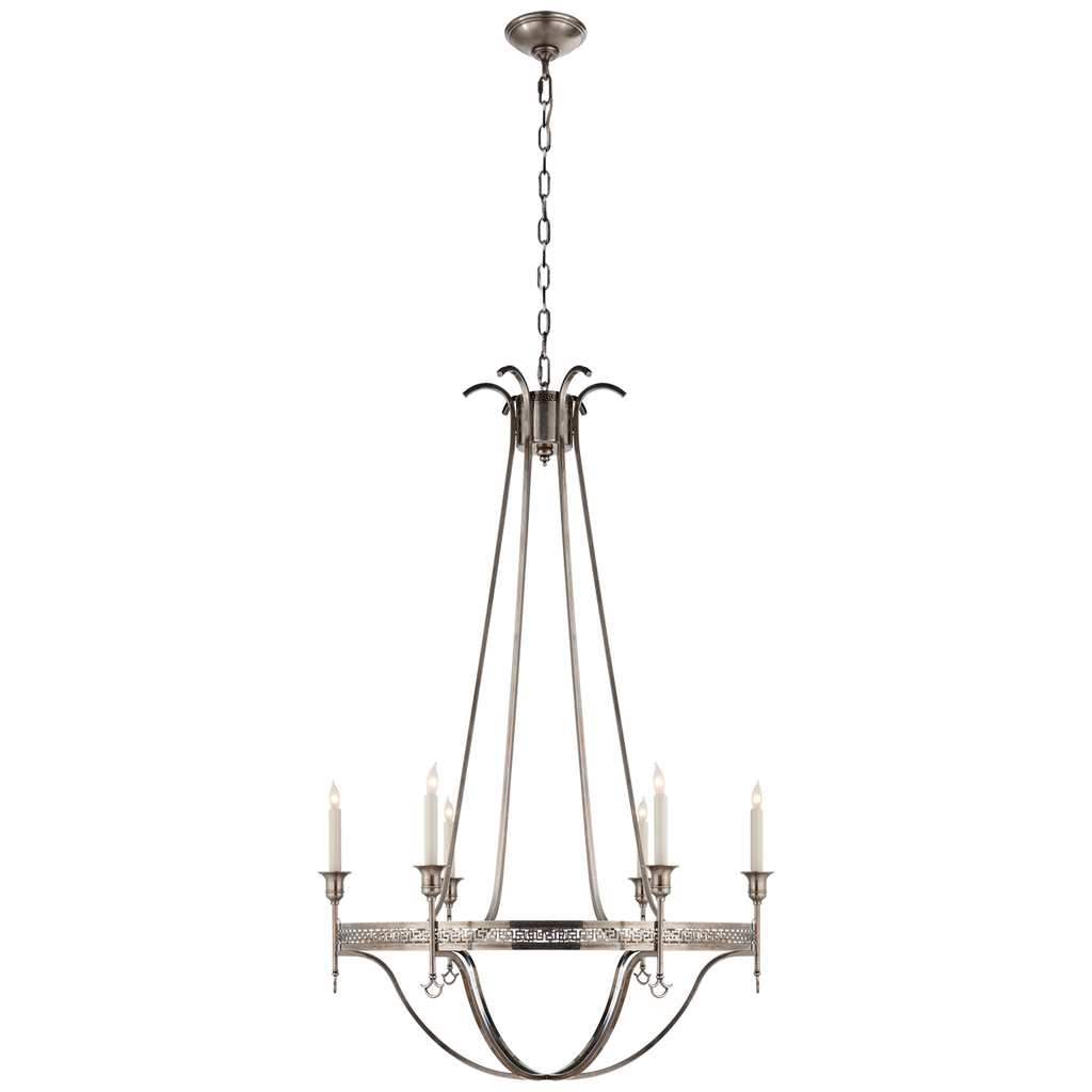 Savannah Large Chandelier in Sheffield Silver