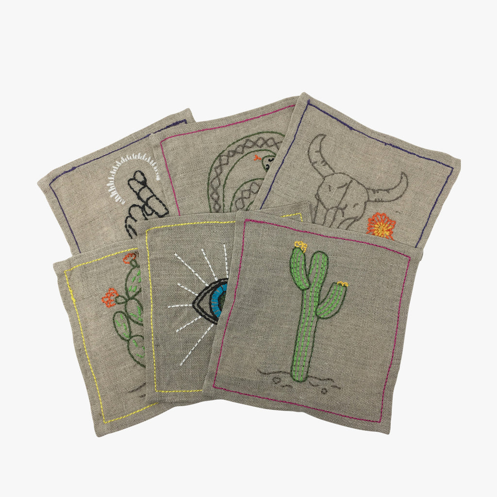 Mystical Embroidered Coasters