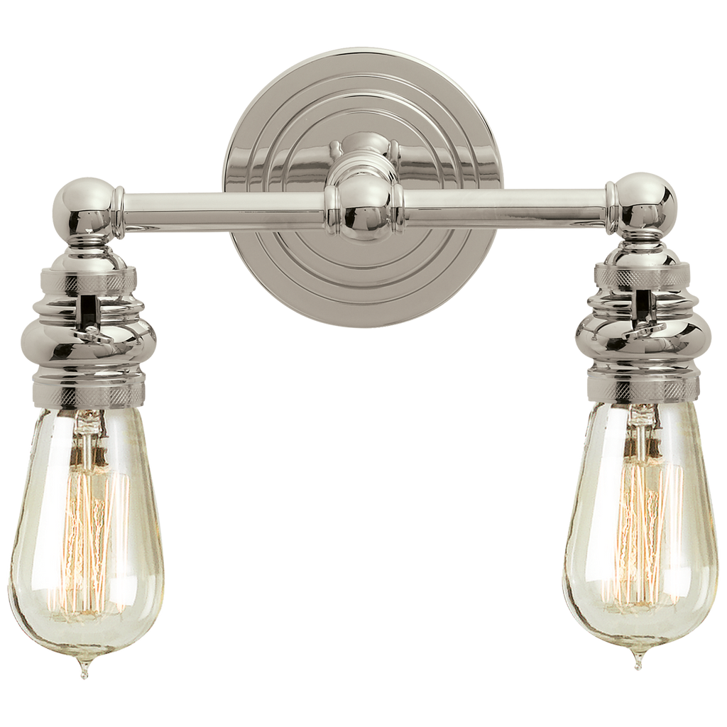 Boston Functional Double Light in Polished Nickel