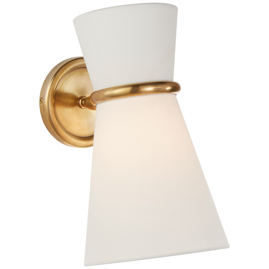 Clarkson Small Single Pivoting Sconce in Hand-Rubbed Antique Brass