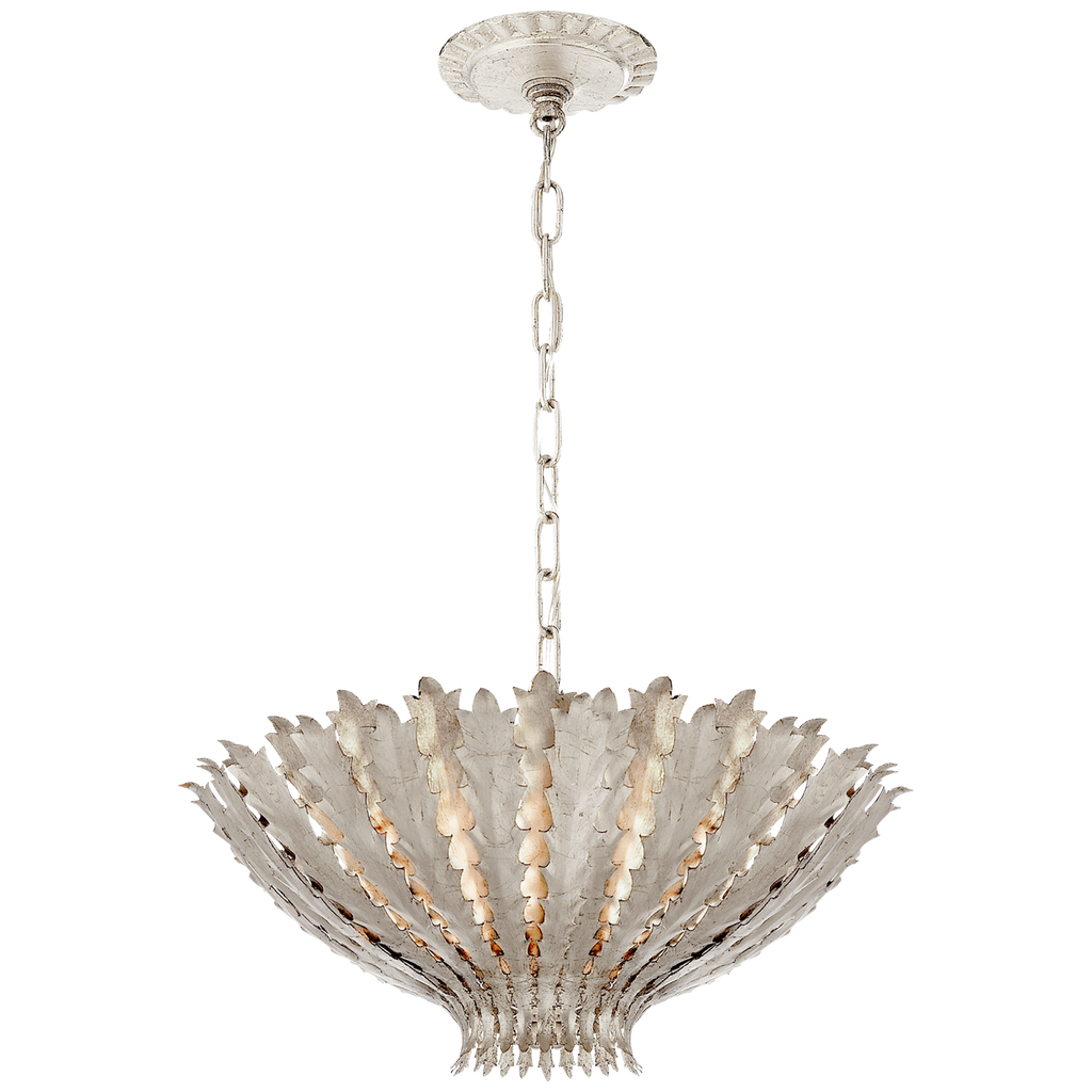 Hampton Medium Chandelier in Burnished Silver Leaf
