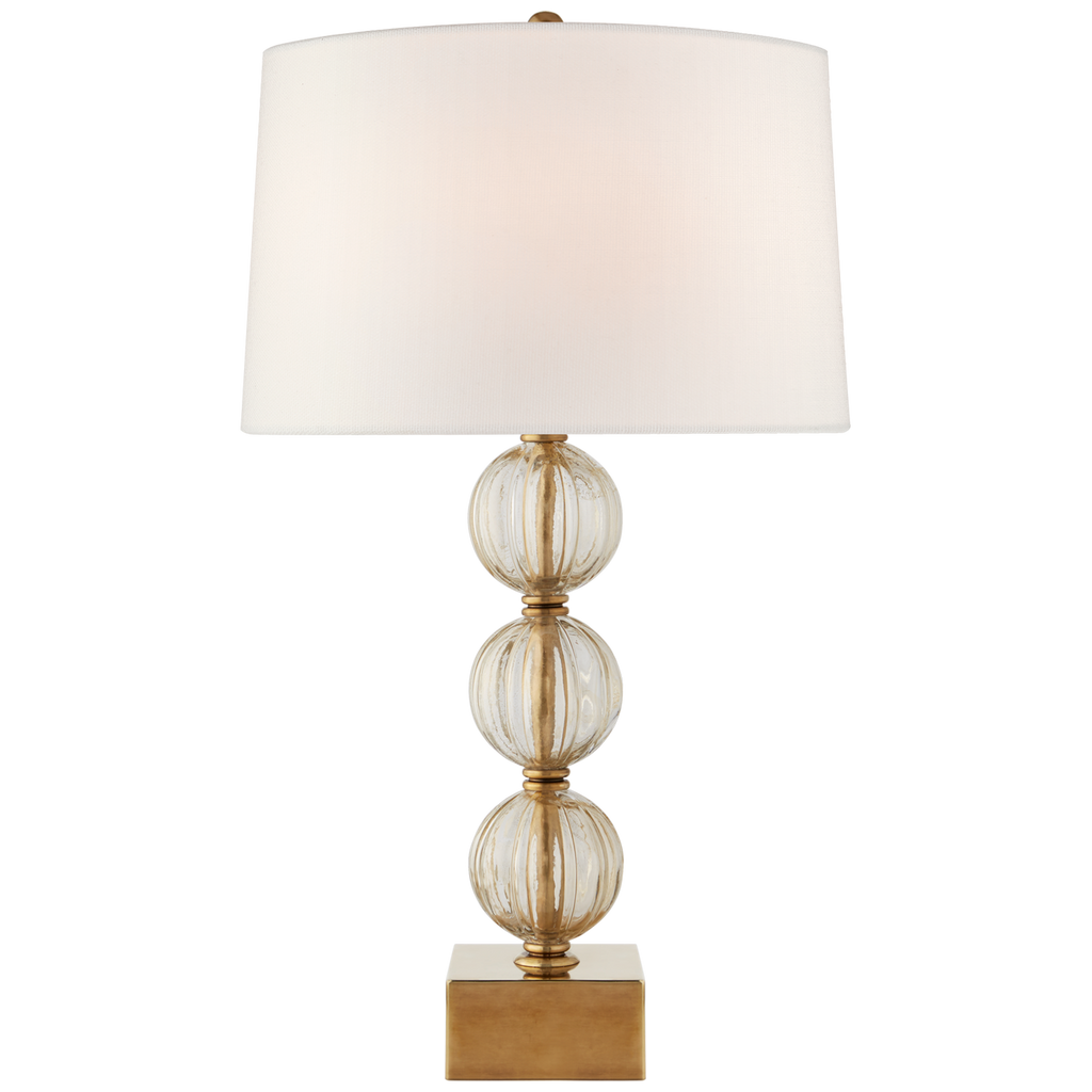 Sazerac Large Table Lamp in Gold Murano Glass with Linen Shade