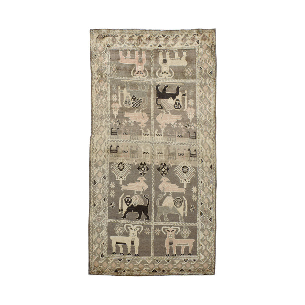 Antique Gabbeh Pictorial Rug // CLOTH & KIND