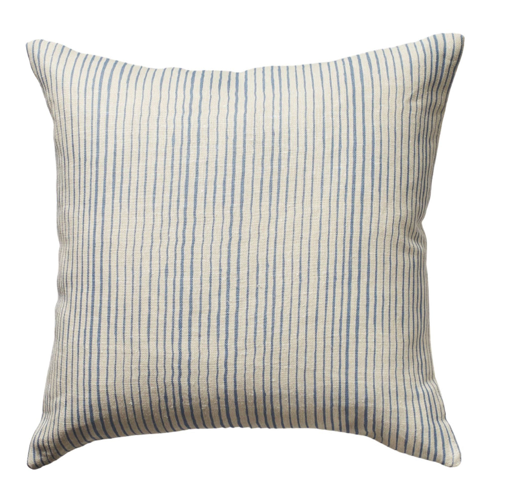 Common Stripe Pillow in Sky Blue