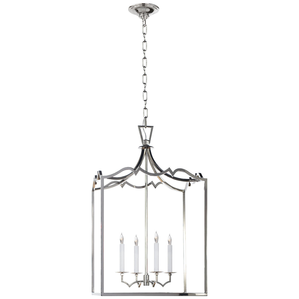 Darlana Medium Fancy Lantern in Polished Nickel