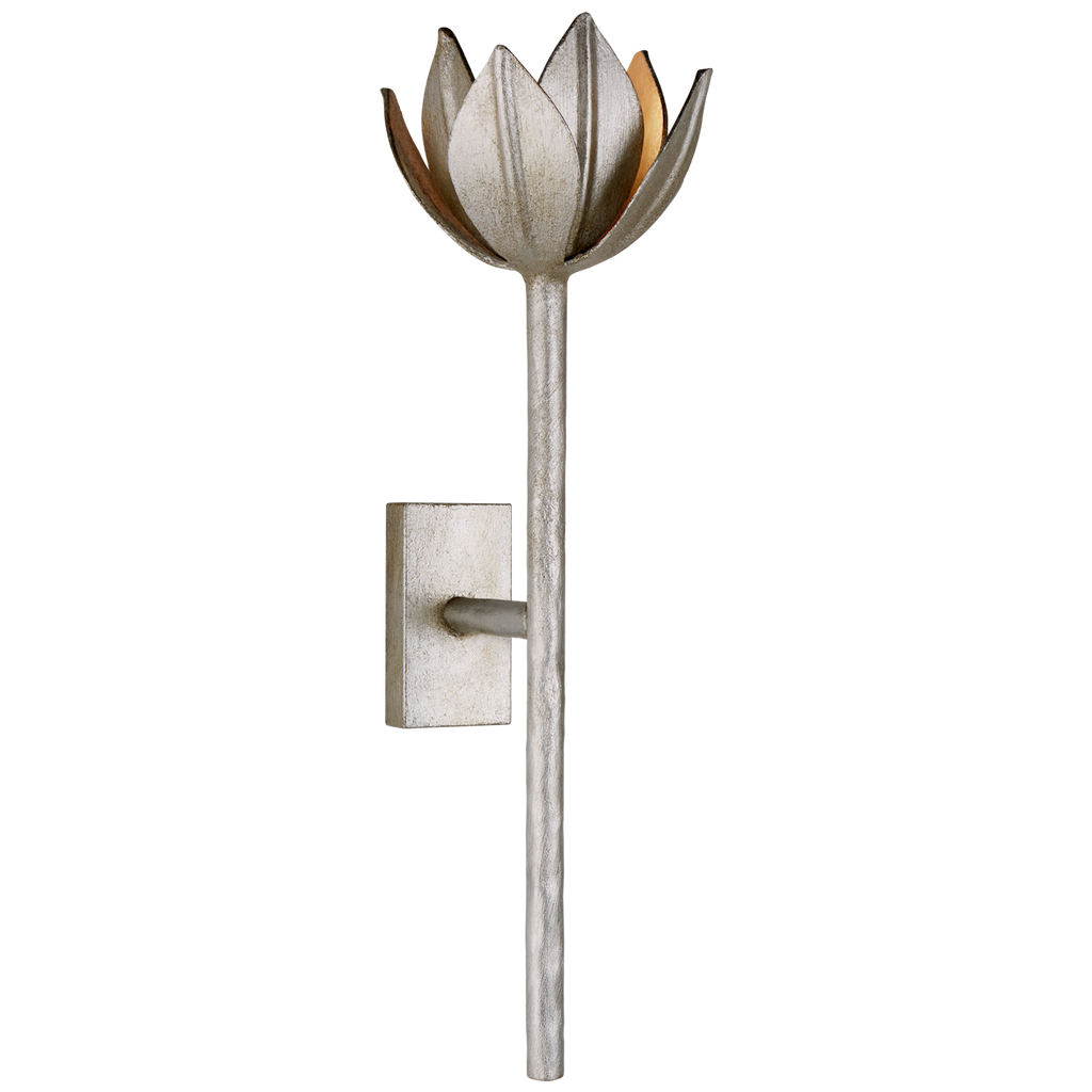 Alberto Medium Sconce in Burnished Silver Leaf