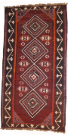 Red and Maroon Kilim Runner