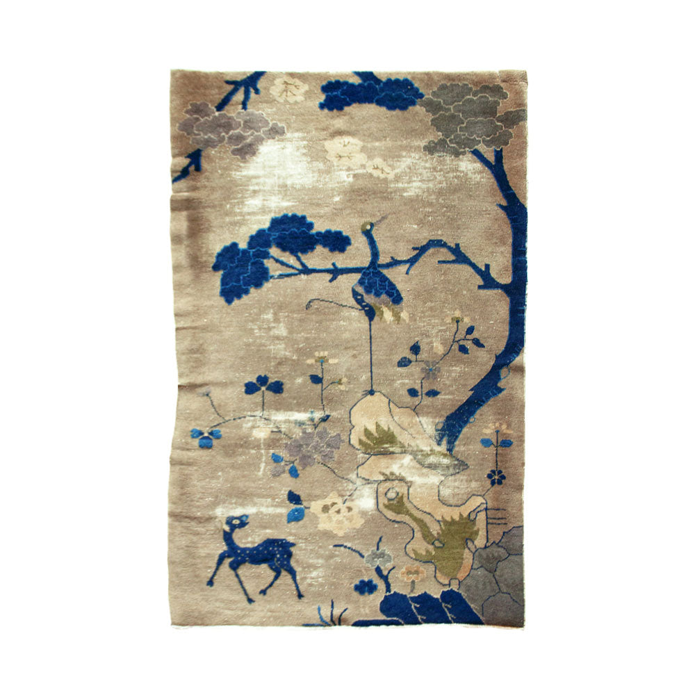 Crane and Deer Chinese Rug // CLOTH & KIND