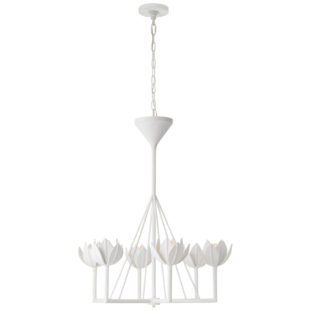 Alberto Small Single Tier Chandelier in Plaster White
