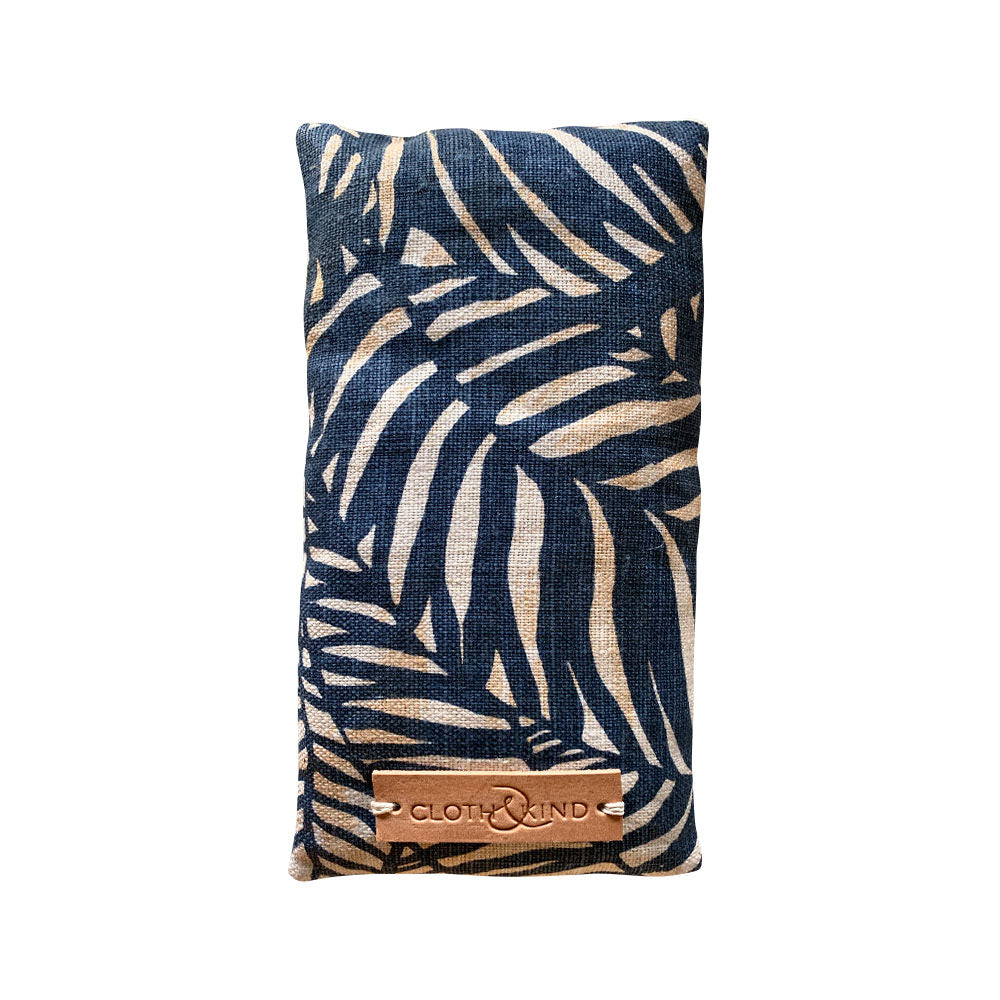 Organic Lavender Eye Pillow in Zebra Fern