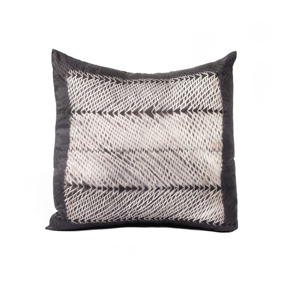 Waves Hand Dyed Shibori Silk Pillow