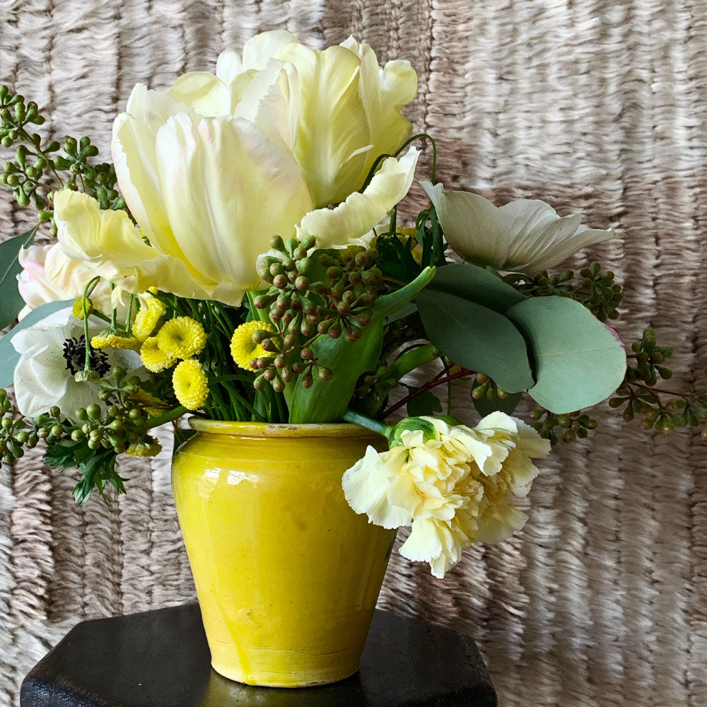 Vintage Yellow and Green Jar Set