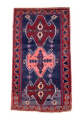 Red and Rose Karabagh Kilim Rug