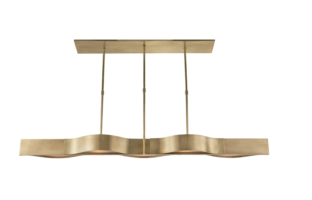 Avant Large Linear Pendant -  Antique-Burnished Brass // CLOTH & KIND