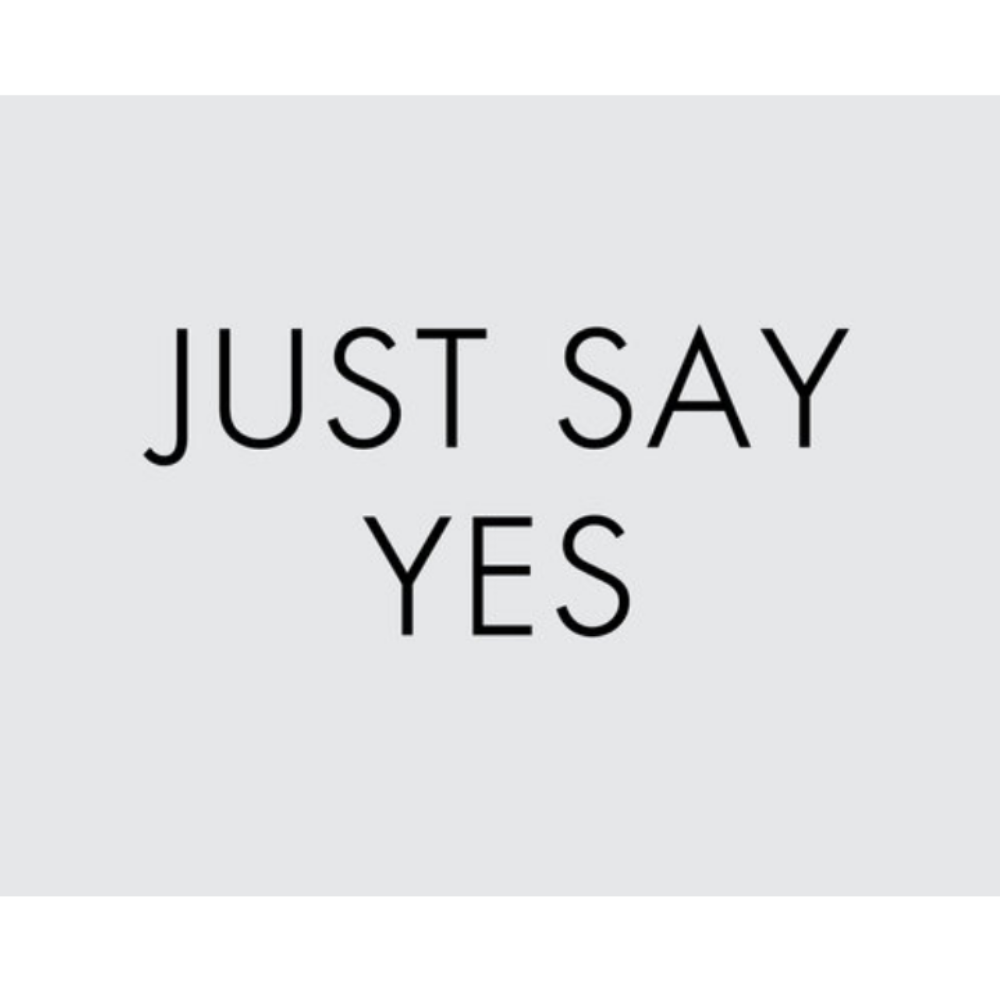 Just Say Yes Thumbstamp Set