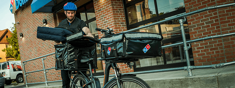 Dominos delivery person with RadCity Step-thru