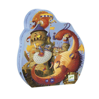 PUZZLE VAILLANT ET LE DRAGON 54 PIECES