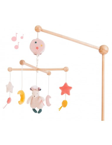 MOBILE MUSICAL EN BOIS MOULIN ROTY