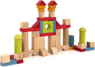 BLOCS DE CONSTRUCTIONS EN BOIS 52 PIECES